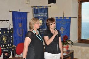 Angela Lombardo e l'assessore Patrizia Micali