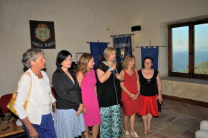 Angela Lombardo, Stefania Luppino   e le presidenti Fidapa