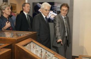 Il Presidente della Repubblica Sergio Mattarella in visita al Museo