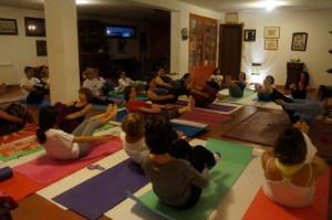 Seduta Yoga in associazione