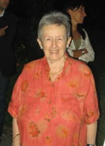 Paola Pelagatti al Museo di Naxos nel 2000