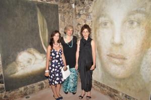 da sin. l'avv. Daniela Tomarchio, Angela Lombardo pres. Ass. Mea Lux e Stefania Orrù