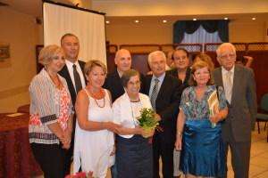 Angela Lombardo e Ada Tripolone con il gruppo di Mignano