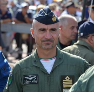 Il Comandante del 41° Stormo Vincenzo Sicuso