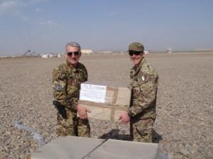 L'arrivo dei medicinali da Giardini Naxos in Iraq