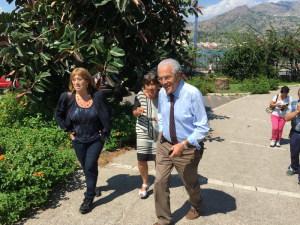 L'arrivo al Museo di Naxos dell'Assessore Purpura