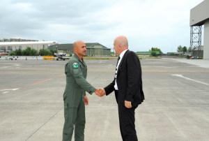Il Comandante Sicuso riceve il sottosegretario Alfano