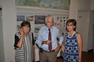 Da sin. la dott.ssa Maria Costanza Lentini, l'assessore reg. Antonio Purpura e la dott.ssa Gioconda La Magna