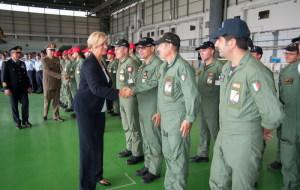Il Ministro Pinotti saluta gli equipaggi degli Atlantic