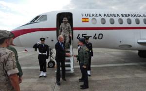 L'arrivo del Ministro Spagnolo a Sigonella
