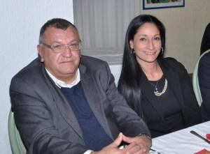 Il Sindaco Pancrazio Lo Turco e l'Assessore Sandra Sanfilippo