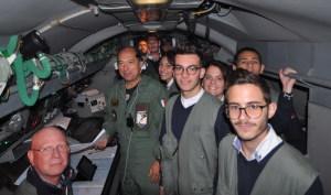 Gli studenti a bordo