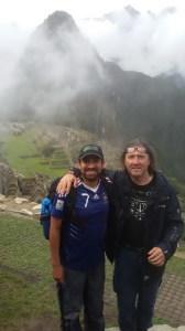 Marco e la guida a Machu Picchu