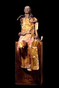Alessio Deli, Summer awakening,cera, lamiera, ferro, terracotta, legno, poliuretano, cm 165x60