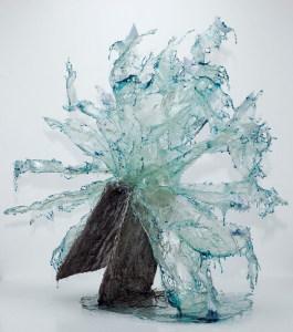 Annalù Boeretto, il libro della tempesta, resina, carta, inchiostri, 250x100x250 2014
