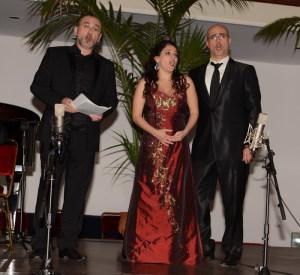 Da sin. Angelo Villari, Manuela Cucuccio e Francesco Verna
