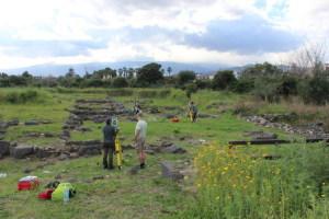 I rilievi sull'area archeologica
