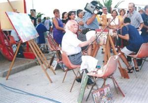 Il Maestro Di Mauro a Giardini Naxos in occasione della Fiera del 1 Aprile di qualche anno fà
