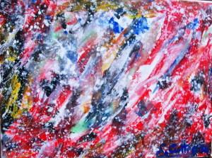 Tempesta di Primavera,cm 30X40 acrilico su tela,2016