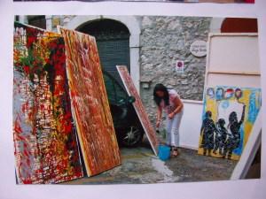Lo studio d'arte di Centra a Veroli