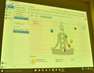 Un grafico dei Chakra realizzato col Biowell