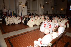 I Cavalieri Templari in chiesa
