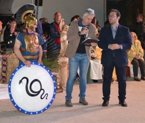 Da sin. Vito Maglie, il presentatore Maurizio Caruso e Gianni Bucolo