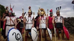 Gli Opliti al Parco Archeologico di Naxos