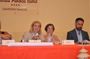 Da sin. Giovanna Campagna, Ada Tripolone e il prof. Graziano Pinna