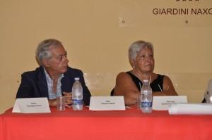 Il dott. Gaspare Motta e la dott.ssa Domenica Nucifora