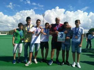 Gli atleti giardinesi che hanno conquistato il terzo posto