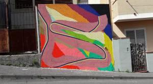 Il Murale realizzato da Momo