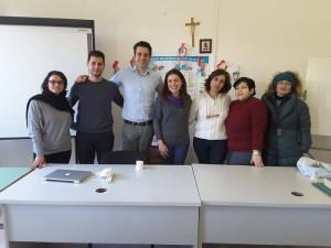 Il dott. Nucera con i volontari della Pro Loco Giardini Naxos