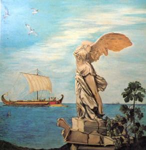NAVE GRECA con la statua della Nike - disegno di Rosa Florio