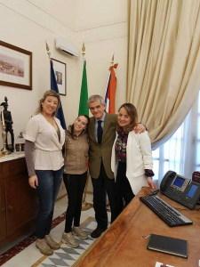 Alessandra, Sergio Chiamparino,Virginia e Stefania Ressia