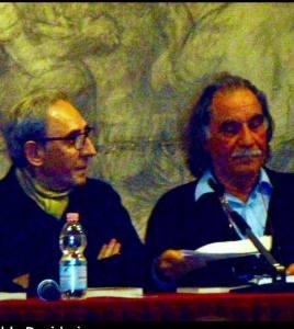 Franco Battiato con il prof. Aldo Desiderio