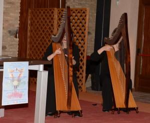 Un intermezzo musicale con l'arpa di Sabrina e Simona  Palazzolo