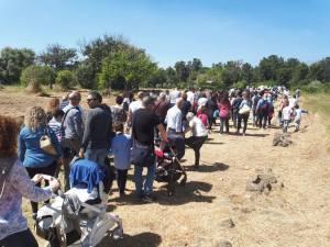Il pubblico numeroso e genitori degli alunni al Parco di Naxos