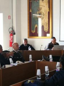Al centro sullo sfondo il tenete colonnello Roberto Mattina del 41° Stormo di Sigonella
