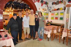 Da sin. Saro Bellinghieri, Pino Parisi, Hadsund, Rosario Messina, Giusy Di Mauro e Luigi Di Pino