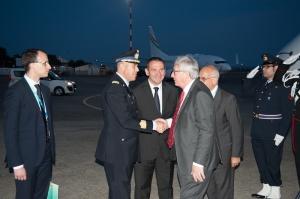 Arrivo del Presidente del Consiglio Europeo Donald Tusk