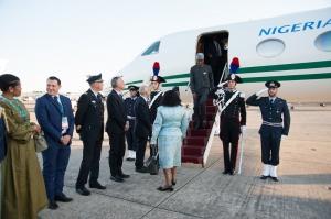 Arrivo Presidente Nigeria