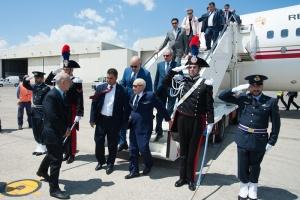 Arrivo Presidente Tunisia