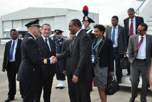 Arrivo Primo MInistro Etiopia