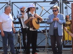 Luigi Di Pino con il Sindaco di Catania Enzo Bianco