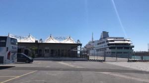 La location dello spettacolo al Porto di Catania