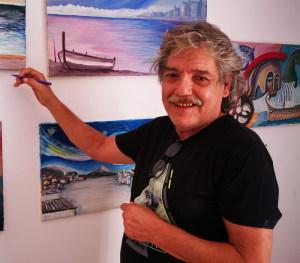 Il pittore Vincenzo Azzolina