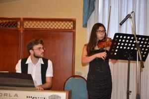 Il duo musicale Gabriele Calcò e Carmen Panebianco