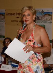 La conduttrice Angela Lombardo