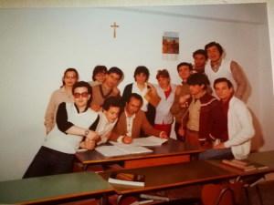 Alcuni componenti della classe in gita sull'Etna